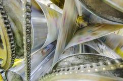 Newspaper roto print machine Stock Photography