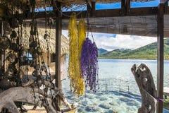 Patio in Pacific Ocean Stock Photo