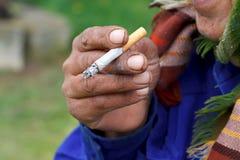 Nicotine addiction Royalty Free Stock Images