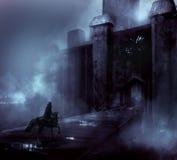 Night castle Stock Image
