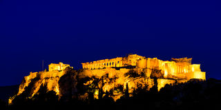 Night scenes of Acropolis and Parthenon Royalty Free Stock Photography