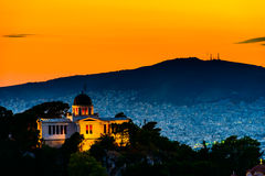 Night scenes of Athens Stock Image