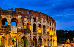 Night scenes of Rome Colosseum Stock Photography