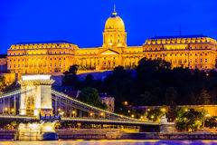 Night scenes of Royal Palace of Hungary Royalty Free Stock Photography