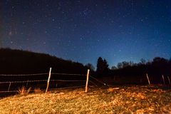 Night sky and hill Stock Photography