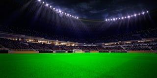Night stadium arena soccer field Royalty Free Stock Photos