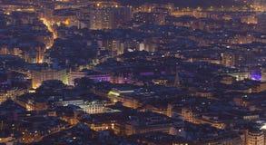 Nightfall in Bilbao Stock Photos