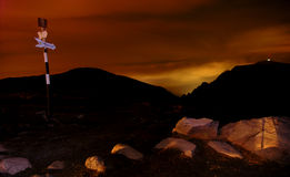 Nightfall At The Omu Shelter Stock Image