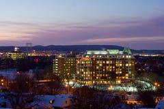 The nightfall of Ottawa after snow Stock Photos
