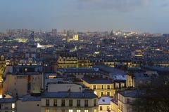 Nightfall in Paris Royalty Free Stock Image