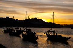 Nightfall in Porto Royalty Free Stock Photo