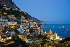 Nightfall in Positano Royalty Free Stock Photography