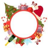Noël rond de fond Photos libres de droits
