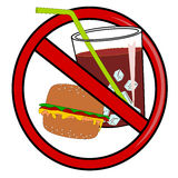 No fast food sign Royalty Free Stock Photography