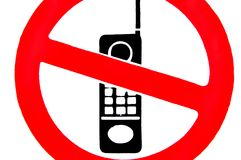 No Mobile Phones. Stock Images