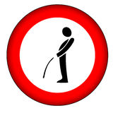 No pee sign (AI format available) Royalty Free Stock Photos