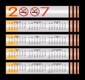 No smoking sign 2007 calendar Stock Image