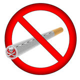 No smoking sign (AI format available) Royalty Free Stock Photo