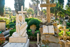 Non-Catholic cemetery in Rome Royalty Free Stock Photography