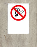 Non smoking sign Stock Images