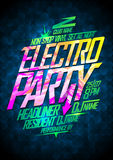 Non stop electro party. Royalty Free Stock Photography