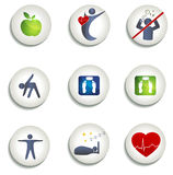 Normal weight, healthy eating and other icons Stock Images