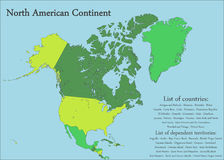 North American Continent Map Royalty Free Stock Images