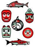 Northwest Coast Native Designs Royalty Free Stock Images