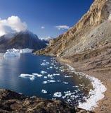 Northwest Fjord in Greenland Stock Photo