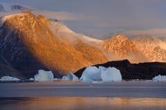 Northwest Fjord - Scoresbysund - Greenland Royalty Free Stock Image