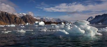 Northwest Fjord - Scoresbysund - Greenland Stock Images