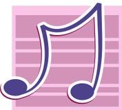 Nota musical Imagem de Stock