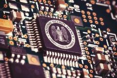NSA computer chip Royalty Free Stock Photos