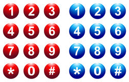 Number button Royalty Free Stock Photo