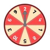Number Wheel 1-10 Stock Photos