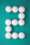 Number writen with Golf balls Royalty Free Stock Images