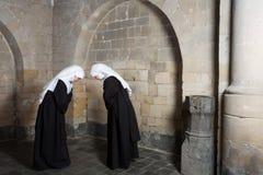 Nuns greeting Royalty Free Stock Photography