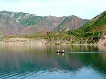 Nurek reservoir Royalty Free Stock Image