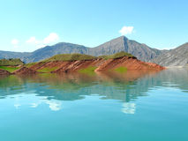 Nurek reservoir Stock Photography