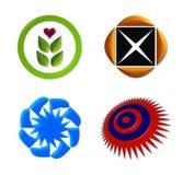 O ícone do logotipo ajustou 1 Imagem de Stock Royalty Free