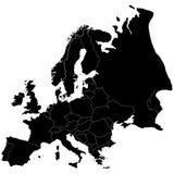 O Europa cada país é clearl Fotografia de Stock Royalty Free