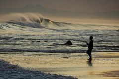 Ocean Fishing Royalty Free Stock Photo