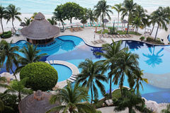 Ocean front Pool Royalty Free Stock Image