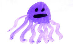 Child painting - octopus Stock Photography