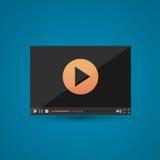 Odtwarzacz wideo dla sieci Obraz Royalty Free