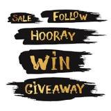 A oferta e a venda especial oferecem com rotulação tirada mão com b Fotos de Stock Royalty Free