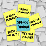 Office Administrator Job Duties Meeting Travel Planner Executive Royalty Free Stock Photography