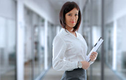 Office employee Stock Image