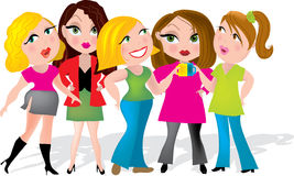 Office Girls Royalty Free Stock Photography