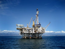 Offshore Oil Rig Drilling Platform Stock Image